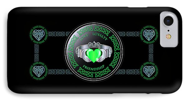 Celtic Claddagh Ring  IPhone Case by Ireland Calling