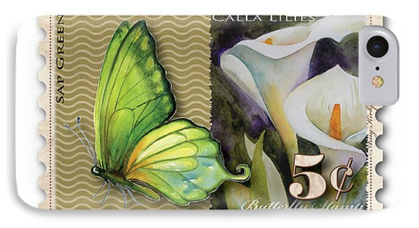 5 Cent Butterfly Stamp IPhone Case by Amy Kirkpatrick