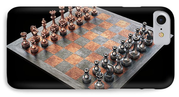 Chess Board And Pieces IPhone Case