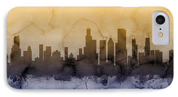 Chicago Illinois Skyline IPhone 7 Case by Michael Tompsett