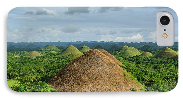 Chocolate Hills, Bohol, Philippines IPhone Case by Michael Runkel