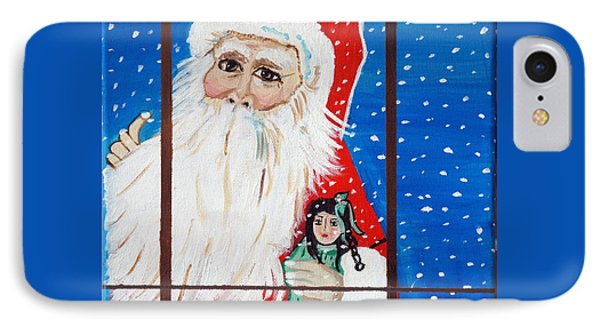 IPhone Case featuring the painting Christmas Card by Nora Shepley