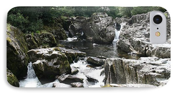 Conwy River Near Betws Y Coed.  Phone Case by Christopher Rowlands