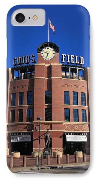 Coors Field - Colorado Rockies Phone Case by Frank Romeo