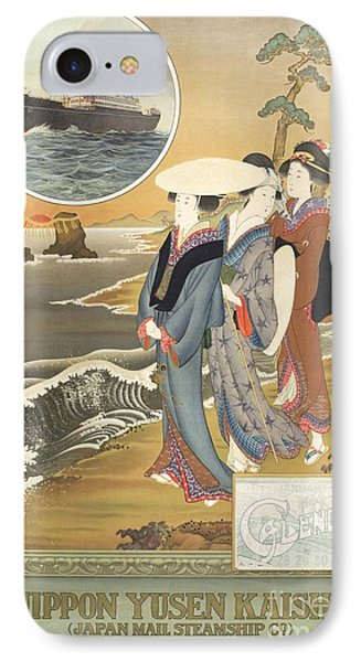 Decorative Asian Art Painting IPhone Case by Celestial Images