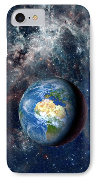 Earth From Space IPhone Case by Detlev Van Ravenswaay
