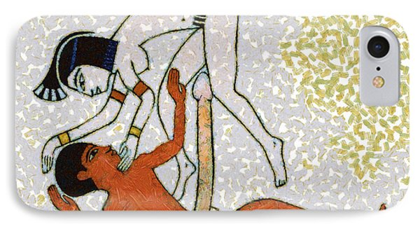 erotic art of ancient Egypt IPhone Case