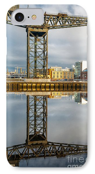 Finnieston Crane Glasgow Phone Case by John Farnan