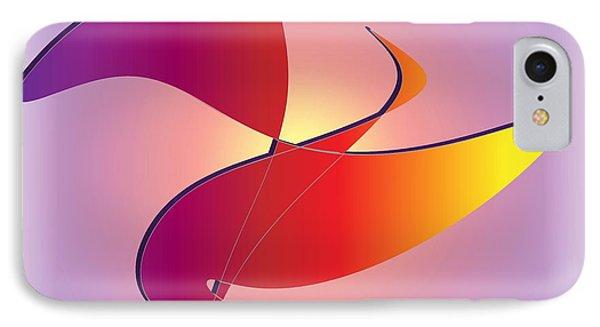 IPhone Case featuring the digital art Flight by Iris Gelbart