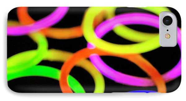 Glow Bracelets IPhone Case by Science Photo Library