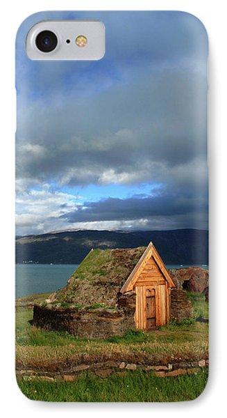 Greenland, Erik's Fjord, Brattahlid IPhone Case