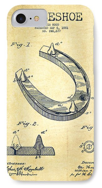 Horseshoe Patent Drawing From 1881 IPhone Case by Aged Pixel