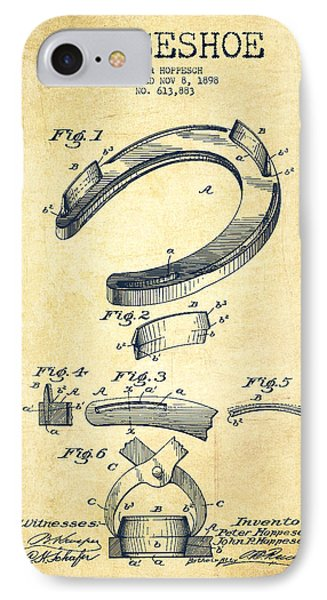 Horseshoe Patent Drawing From 1898 IPhone Case