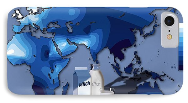 Lactose Tolerance, Eurasia And Africa IPhone Case by Art for Science