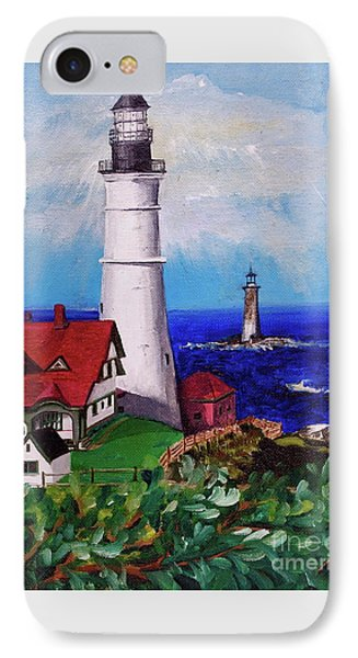 Lighthouse Hill Phone Case by Linda Simon
