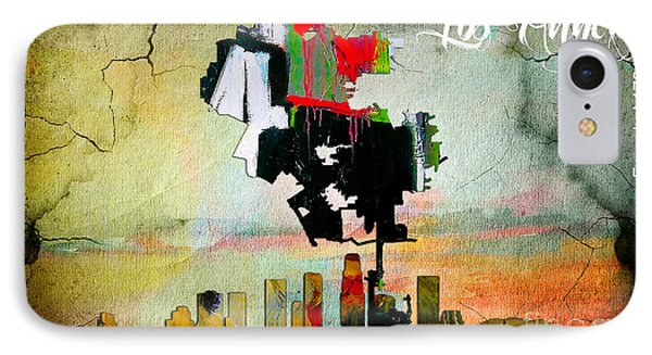 Los Angeles Map And Skyline IPhone Case by Marvin Blaine