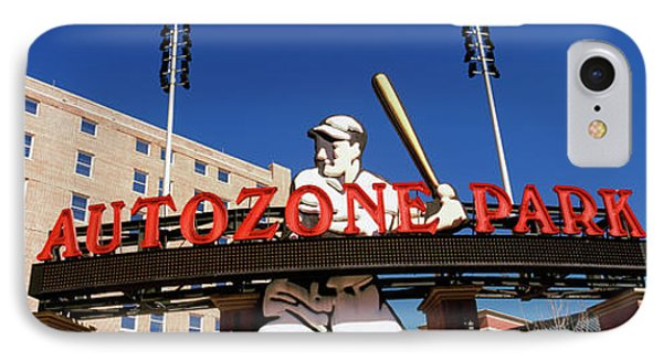 Low Angle View Of A Baseball Stadium IPhone Case by Panoramic Images