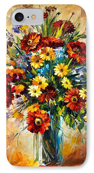 Magic Flowers Phone Case by Leonid Afremov