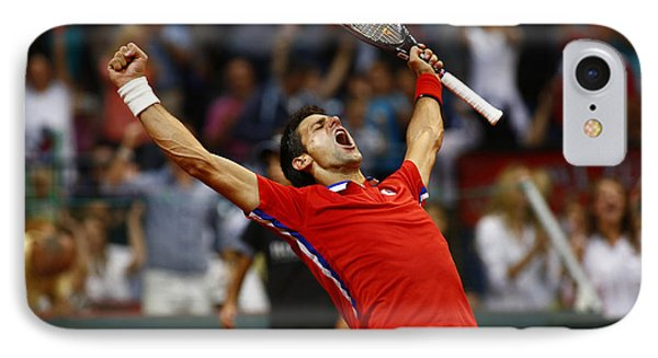 Novak Djokovic IPhone Case by Srdjan Petrovic