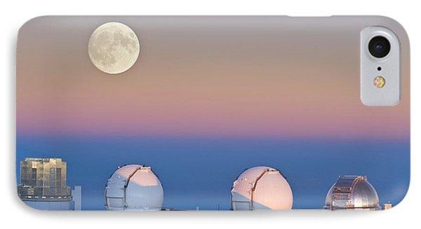 Observatories On Summit Of Mauna Kea IPhone Case