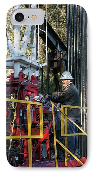 Oil Drilling Rig IPhone Case by Jim West