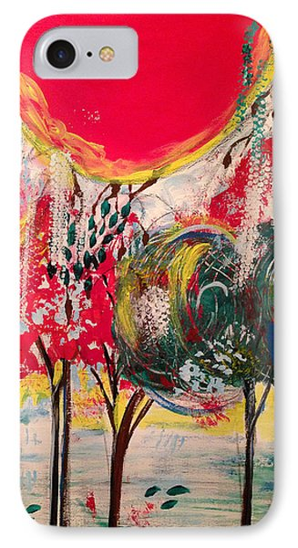 IPhone Case featuring the painting 5 Panell- Dance Of Love by Sima Amid Wewetzer