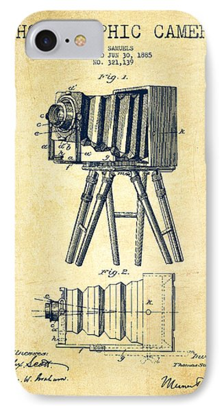 Photographic Camera Patent Drawing From 1885 IPhone Case