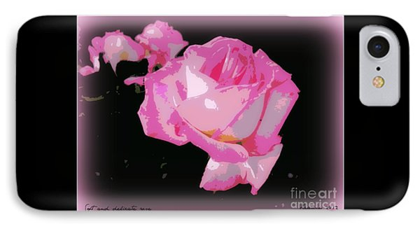 IPhone Case featuring the photograph Pink Rose by Leanne Seymour
