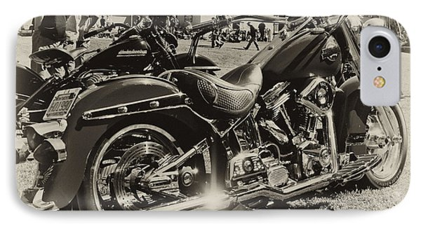 IPhone Case featuring the photograph Red Harley by Wilma  Birdwell