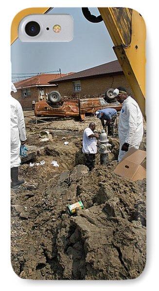 Repairing Hurricane Katrina Damage IPhone Case by Jim West