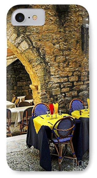 Restaurant Patio In France Phone Case by Elena Elisseeva