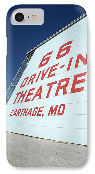 Route 66 Drive-in Theatre Phone Case by Frank Romeo