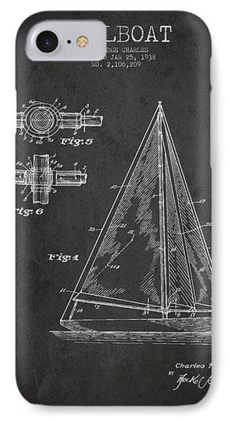 Sailboat Patent Drawing From 1938 IPhone Case