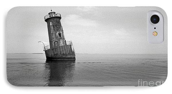 Sharps Island Lighthouse Phone Case by Skip Willits