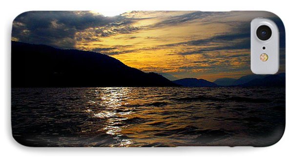 Skaha Lake Sunset IPhone Case by Guy Hoffman