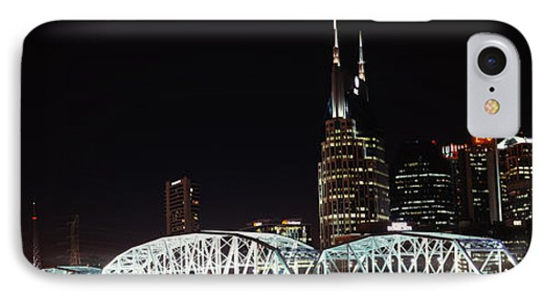 Skylines And Shelby Street Bridge IPhone Case by Panoramic Images