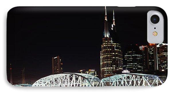 Skylines And Shelby Street Bridge IPhone Case