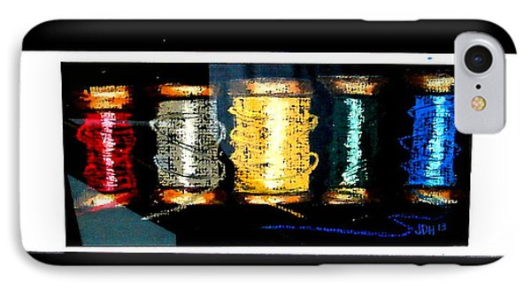 IPhone Case featuring the drawing 5 Spools by Joseph Hawkins