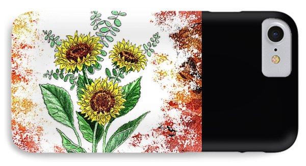 Sunflowers IPhone Case by Irina Sztukowski