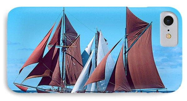 Tall Ship Regatta In The Baie De IPhone Case