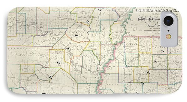 The American Atlas IPhone Case by British Library