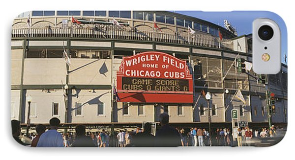 Usa, Illinois, Chicago, Cubs, Baseball IPhone Case by Panoramic Images