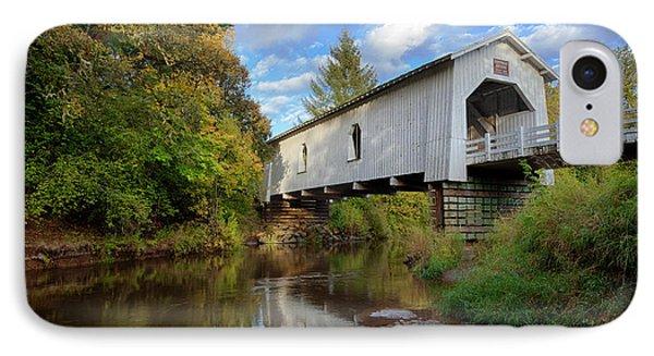 Usa, Oregon, Scio, Hoffman Bridge IPhone Case by Rick A Brown