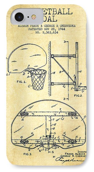Vintage Basketball Goal Patent From 1944 Phone Case by Aged Pixel