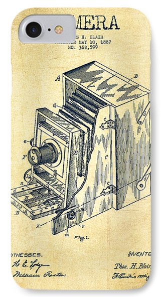 Vintage Camera Patent Drawing From 1887 IPhone Case by Aged Pixel