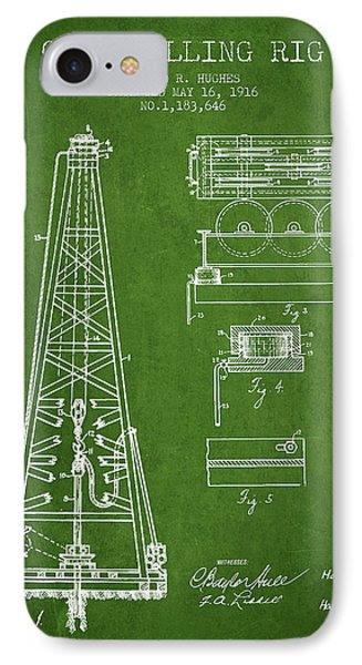 Vintage Oil Drilling Rig Patent From 1916 IPhone Case