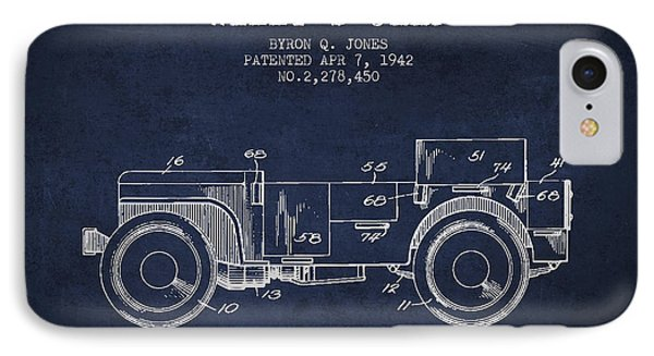 Vintage Willys Jeep Patent From 1942 IPhone Case
