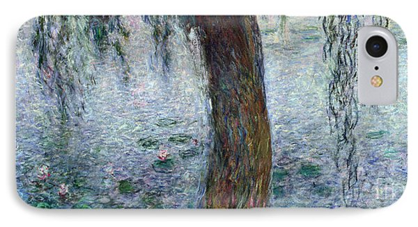 Waterlilies Morning With Weeping Willows Phone Case by Claude Monet