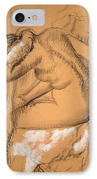 Woman Drying Herself  Phone Case by Edgar Degas
