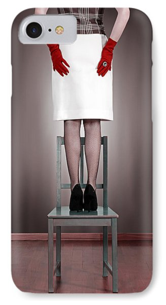 Woman On Chair Phone Case by Joana Kruse